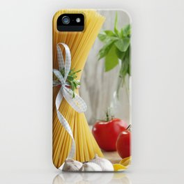 #Delicious #Italian #noodles in the #kitchen #still life iPhone Case