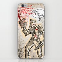 evil dead iPhone & iPod Skins featuring Ash from The Evil Dead by Joe Badon