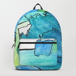 I Feel Free Abstract Modern Watercolor Painting Backpack