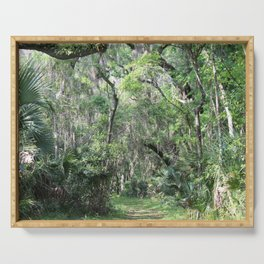 Hiking in Florida Serving Tray