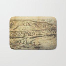 Old Roanoke Island Burnside Expedition Map (1862) Bath Mat