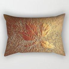 Rust glitter leaves in fall Rectangular Pillow