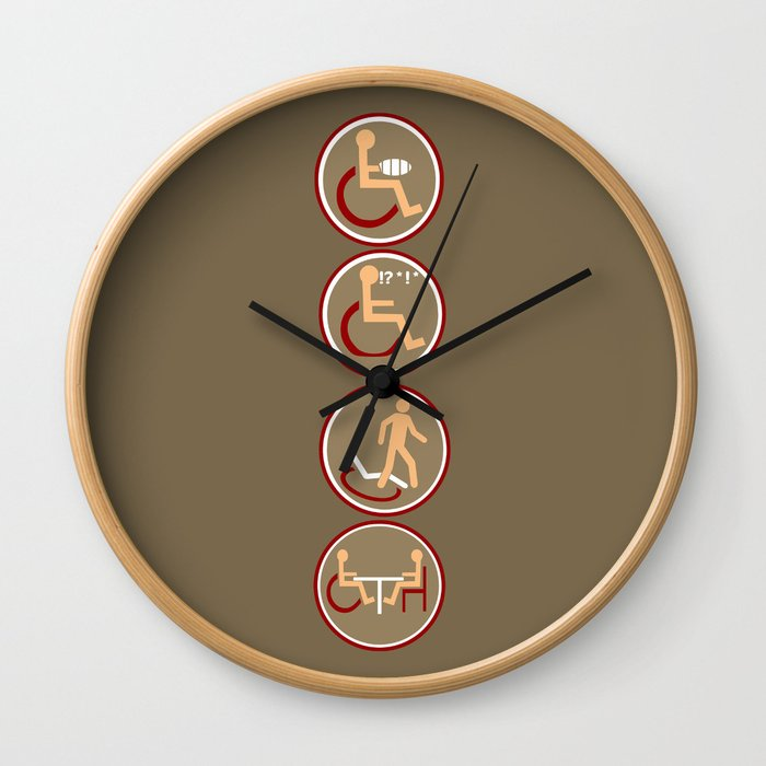 4 DISABILITY Wall Clock