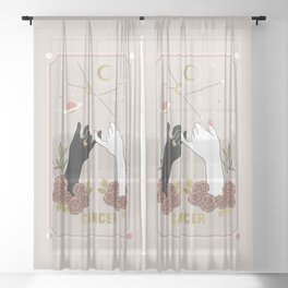 Cancer Zodiac Series Sheer Curtain