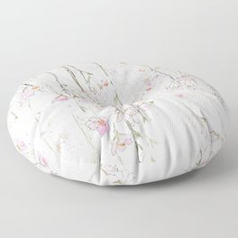 pink cherry blossom Floor Pillow