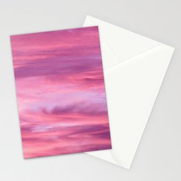 Pink Lavender Clouds Stationery Cards