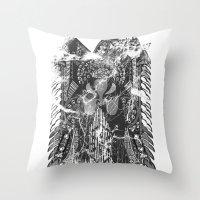 hawk Throw Pillows featuring Hawk by Kristian Boserup