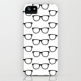 Black Funky Glasses iPhone Case