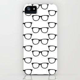 Black Funky Glasses iPhone Case