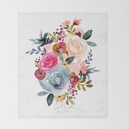 Autumn Rose Throw Blanket