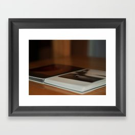 Stack of Polaroids Framed Art Print