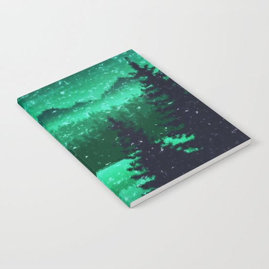 Snowing in the forest Notebook