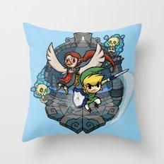 Legend of Zelda Wind Waker Earth Temple T-Shirt Throw Pillow