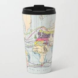Antique World Map of Food & Commercial Products Travel Mug