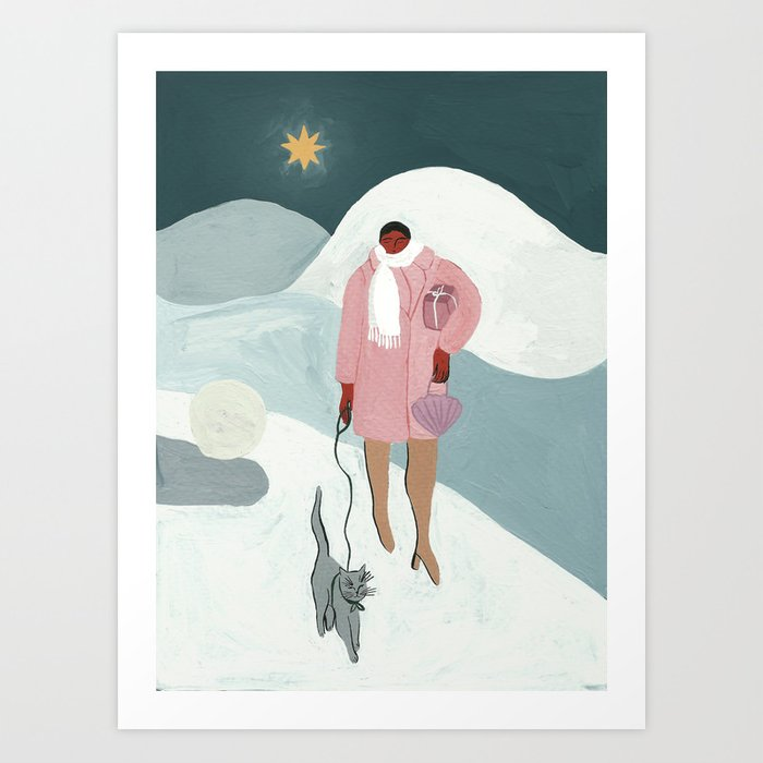 A Christmas Walk Kunstdrucke