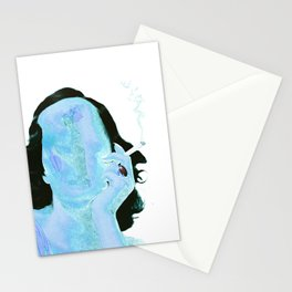 Smoke in Blue Stationery Cards
