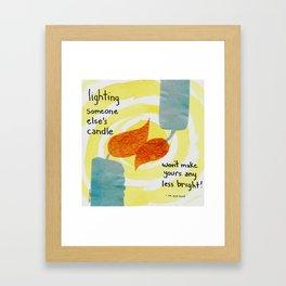 Lighting candles Framed Art Print