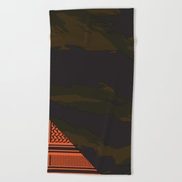 Brown Tiger Camouflage Beach Towel