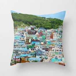 Korea Busan Throw Pillow