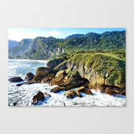 Coastal View in Punakaiki Canvas Print