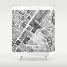 city plan Shower Curtain