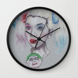 Melanie Harley Mashup Wall Clock