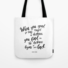 A court of mist and fury darkness Tote Bag