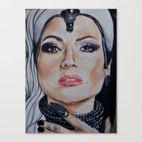 regina mills Canvas Prints featuring Regina Mills/Evil Queen by Bernadette Woods