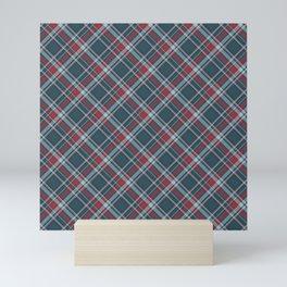 Scottish Blue Plaid  Mini Art Print