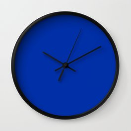 International Blue - solid color Wall Clock