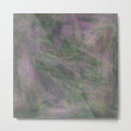 Rosen garden green purple look Metal Print