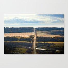 Pembina River + Valley Canvas Print