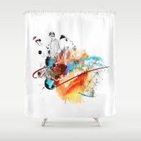 sketch Shower Curtains featuring Sketch by Adriana Bermúdez