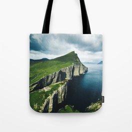 on top of faroe islands Tote Bag