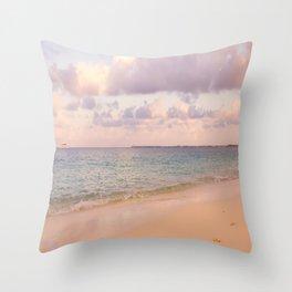 Dreamy Beach View Throw Pillow