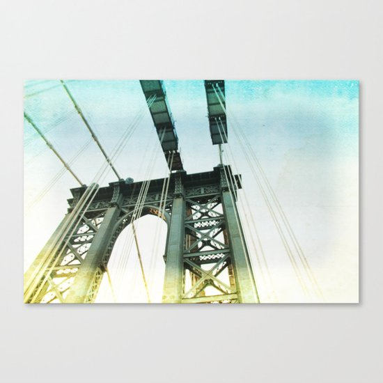 manhattan bridge in the light Canvas Print