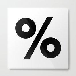 Percent Sign (Black & White) Metal Print
