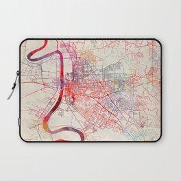 Baton Rouge map Louisiana painting square Laptop Sleeve