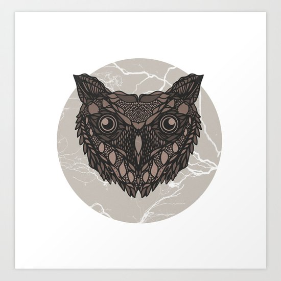 Im not a barn owl but i would like to be Art Print