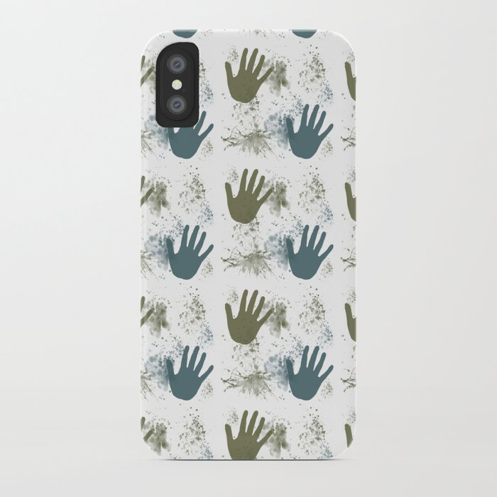 Paint and Hands iPhone Case