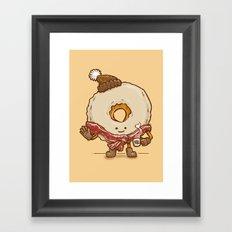 Bacon Scarf Maple Donut Framed Art Print