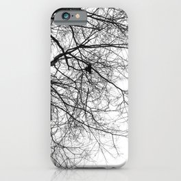 Bare Branches Hold Heart Nest iPhone Case