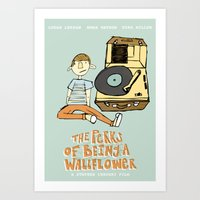 the perks of being a wallflower Art Prints featuring The Perks of Being a Wallflower by M. Duwel