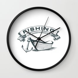 Fishing is my Management Wall Clock