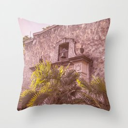Palm Tree Summer - The Alamo Throw Pillow