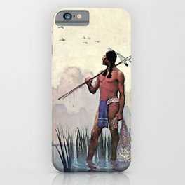 "N C Wyeth Vintage Western Painting ""Spear Fishing"" iPhone Case"
