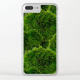 Moss - Green Luscious Mossy Texture - Full on Natural Moss Mounds- Earthy Greens -Turning Moss Green Clear iPhone Case