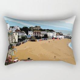 Broadstairs Beach Rectangular Pillow
