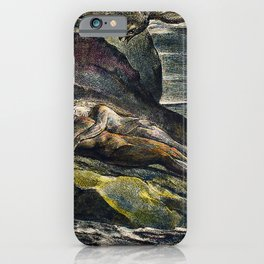 The eagle  from Milton a Poem To Justify the Ways of God to Men by William Blake(1752-1827) iPhone Case