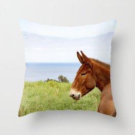 Hawaii loves horses Throw Pillow